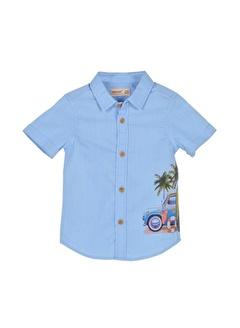 Silversun Kids Erkek Bebek Baskılı Kısa Kollu Dokuma Gömlek Gc 115384